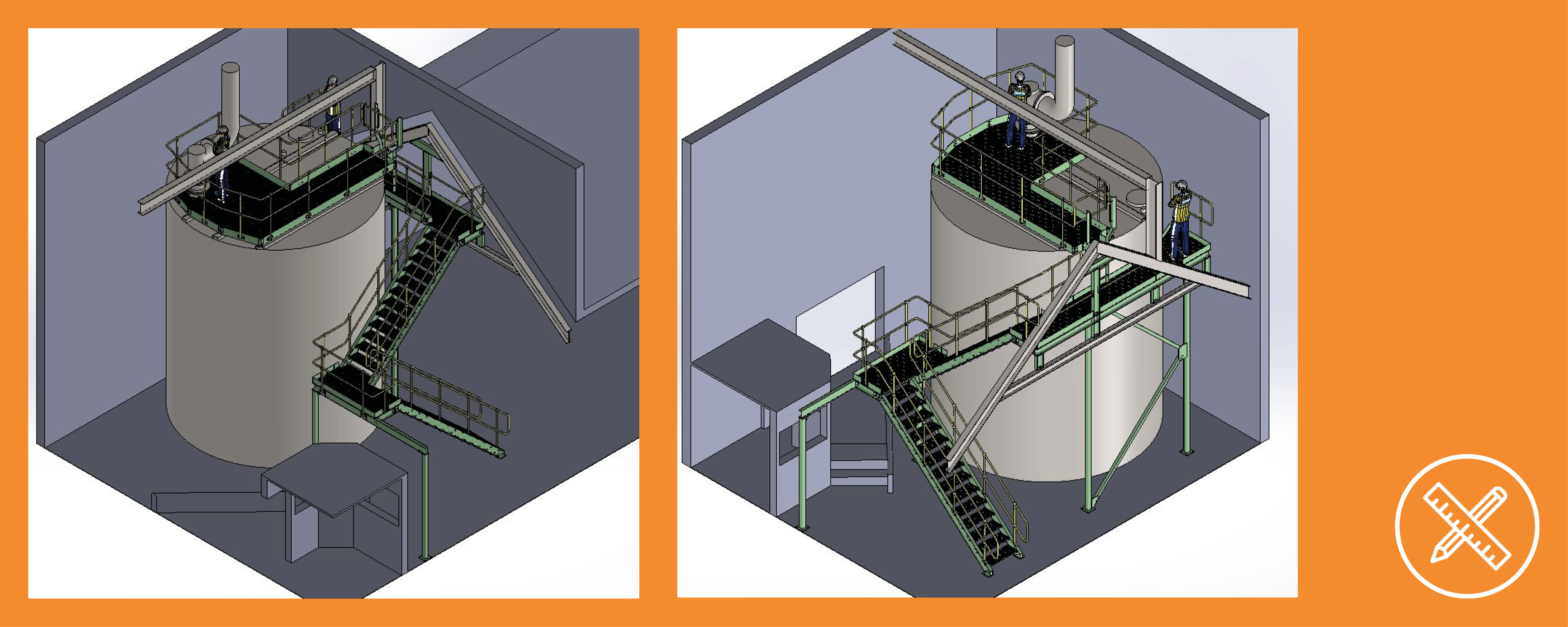 Tank access solution 3D design